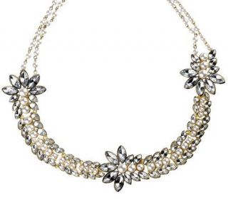 Luxe Rachel Zoe Elaborate Simulated Stone & Simulated Pearl Necklace