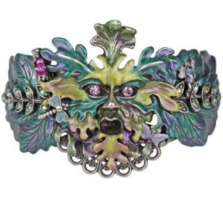 Kirks Folly Enchanted Green Man Fairy Bangle Bracelet   J302591