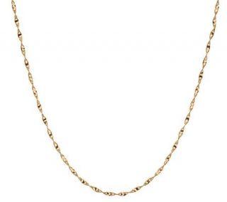EternaGold 20 Twisted Open Link Necklace 14K Gold, 1.9g   J272676