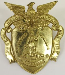 Vintage Fort Union Military Academy Cap Badge