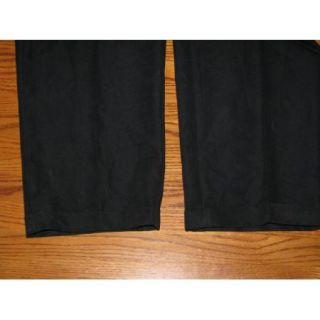 Cubavera Mens Pleated Cuffed Black Dress Slacks Pants Size 34 30