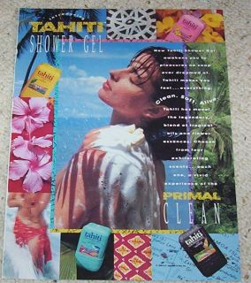 1990 Tahiti Shower SEXY girl Curel skin ladies AD