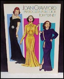 1983 Joan Crawford Paper Doll Book Movie Tierney Uncut