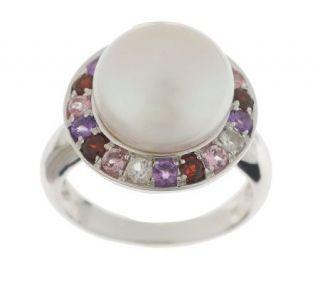 Honora Cultured FreshwaterPearl 11.0mm Button & Multi gemstone