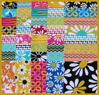 Benartex CRAZY DAISY 5 Charm Pack Fabric Quilting Squares Kit