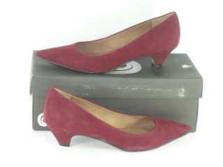Corso Como 7 5 M Macon Wine Red Leather Kitten Heels Womens Shoes
