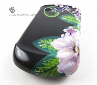 & BLACK FLOWERS HARD SHELL CASE COVER PANTECH SWIFT PHONE ACCESSORY