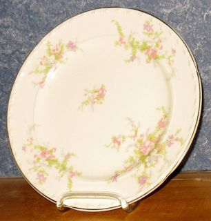Crooksville China Pink Purple Flowers 8 1 8 Salad Plate