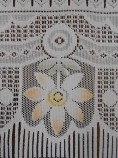 Lace Curtains Orange Sunflowers Drapes Window Treatment Valance