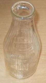 Queen City Dairy Cumberland MD Quart Milk Bottle 1940 60s