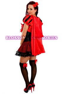 Little Red Riding Hood Fancy Dress Halloween Costume Outfit