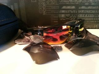Oakley Fast Jacket XLJ Black with Custom Lenses