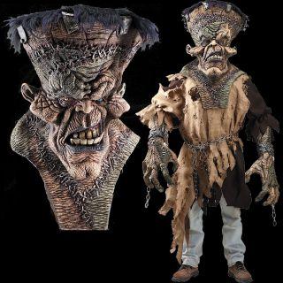 Huge Extreme Adult Frankenstein Halloween Mask Costume