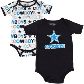 Cowboys Infant 2 Pack Cutie Patootie Creepers Navy Blue White