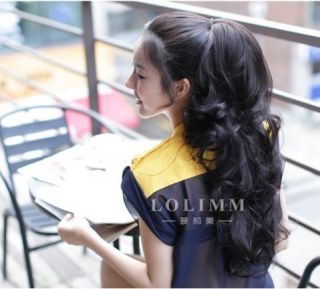 Curl Wavy Long Pony Tail Hair Extension Clip in for Sexy Lady 4 Colors