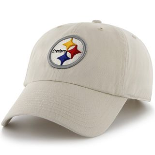 47 Brand Pittsburgh Steelers Cleanup Adjustable Hat   Natural