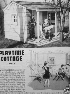 You Can Build The Playtime Cottage Play House Plans