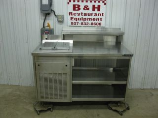 50 Stainless Ice Cream Soda Fountain Dipping Cabinet Freezer Prep