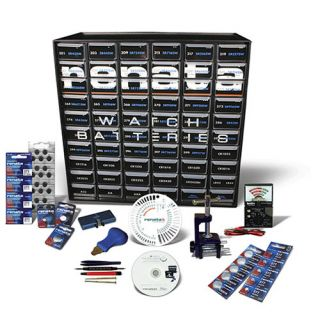 Renata Deluxe Watch Battery Starter Kit Tools Batteries CD Draws Signs