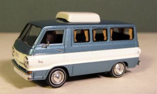 HO Brekina 1964 Dodge A100 camper Van Blue White New