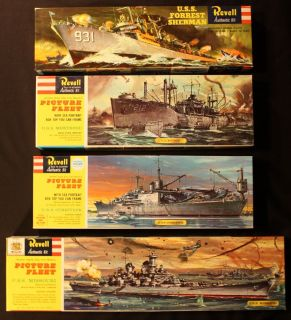 revell model kits uss forrest sherman missouri currituck montrose