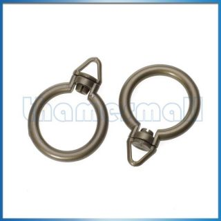 2pcs Home Window Door Shower Curtain Rod Rings with Eyelet Easy to