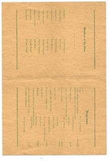 Northfield Vermont High School Graduation Program 1919