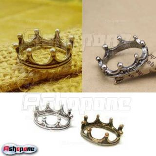 Fashion Cute Alloy Silver Gold Color Crown Ring