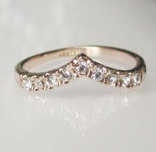 18K Rose Gold GP Swarovski Engagement Crown Ring