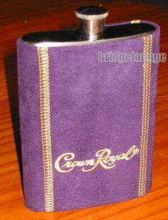 Crown Royal Stainless Steel Flask Container Whisky Whiskey Liquor
