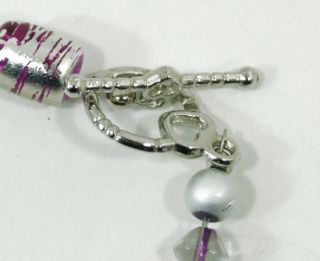 Custom Hand Made Necklace Pink Silver Beads Large Raw Gem Stone