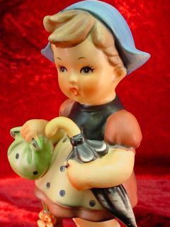 Vintage Large Wales Porcelain German Style Girl Figurine Japan Hand