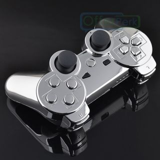 Chrome Silver Custom Shell Case for PS3 Controller with Matching