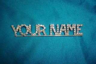 Custom Austrian Crystal Rhinestone Word Name Club Pins $3 25 Ltr