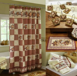 primative country hearts stars shower curtain rug hooks bath towels