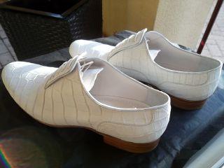 Authentic Louis Vuitton White Crocodile Leather Moccasins Mocassins