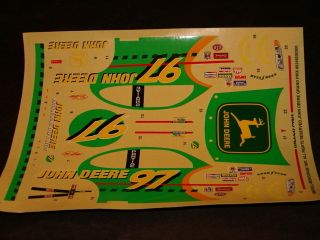 1997 Revell 97 Chad Little John Deere Grand Prix Decal Sheet