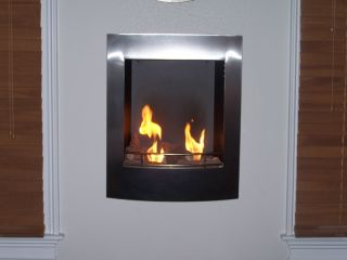 Blisso Ethanol Fuel Fireplace Wall Mounted No Gas