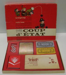 Coup DEtat 1966 Card Game Parker Brothers Complete