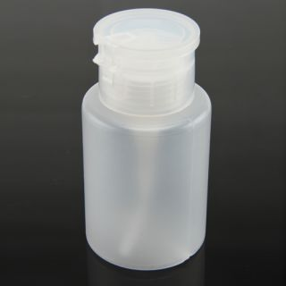 Nail Art Cleaner Bottle 150ml Pump Nail Polish Remover Travel Empty