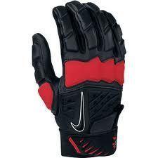 HyperBeast Receiver Lineman Football Adult Black Red Gloves Sz XL 60