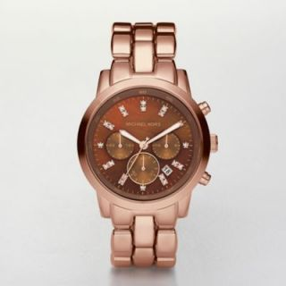 Michael Kors Watch Ladies Chronograph Showstopper Rose Gold Tone