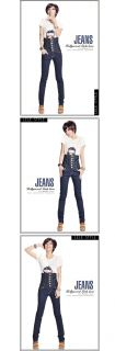 D3028 Japan Korea Fashion Women Ladies High Waist Tight Skinny Jeans