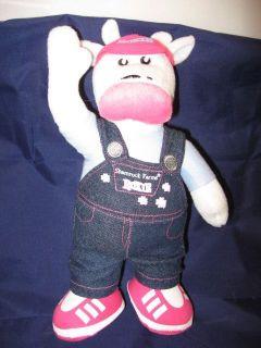 Farms Roxie Cow Stuffed Plush Milk Denim Pink 11 Farm Animal