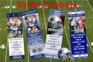 birthday invitations dallas cowboys personalized