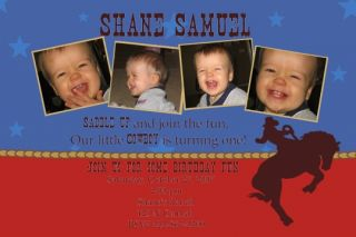 Custom Boy Photo Birthday Party Invitations Any Theme