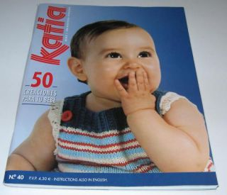 Katia 40 Spring Summer Baby Knitting Yarn Pattern Book