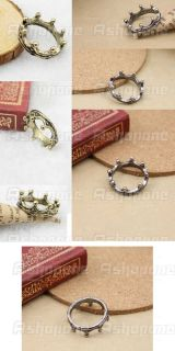 fashion cute alloy silver gold color crown ring 100 % new description