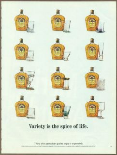 Crown Royal Whisky 1997 Print Ad Magazine Advertisement Whiskey