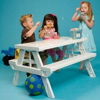New Indoor Outdoor Kids Picnic Activity Craft Table